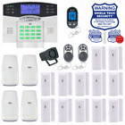 Wireless House Alarm Kit Security System Voice Prompt Backlit Screen US Plug AP