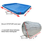 23x23x1.8ft Inflatable Water Pool +Two Water Walking Roller Ball +Two Blowers