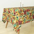 Tablecloth International Exotic James Bond Red Yellow Orange Cotton Sateen $89.0 USD on eBay