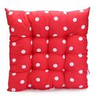 FENTI Polyester Polka Dot Chair Pad with Ties Ultra Soft - Dual Use Seat Pad ...