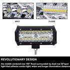 7 inch 60W LED Light Flood Spot Beam Combo Bar For Jeep Truck Off-Road Boats ATV