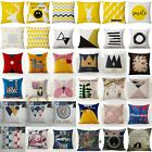 Vintage Geometry Linen Throw Pillow Case Cushion Cover Sofa Chair Home Decor image