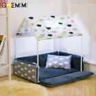 Washable Home Shape Dog Bed + Tent Dog Kennel Pet Removable Cozy House For