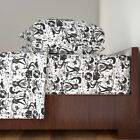 Hound Hound Dog Music Star Elvis 100% Cotton Sateen Sheet Set by Roostery