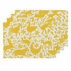 Cloth Placemats Deer Cats Spring Happy Mexico Texas Pretty Set of 4