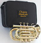 Christmas Sale Pocket Trumpet 3V Pro Shinning Brass with Mouth Piece n Case