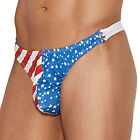 Stars and Stripes Thong Flag Underwear Snap Closure Patriotic 4th of July 82192
