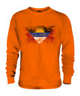 ANTIGUA AND BARBUDA DISTRESSED FLAG UNISEX SWEATER TOP ANTIGUAN BARBUDAN SHIRT