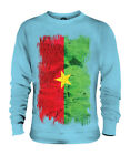 BURKINA FASO GRUNGE FLAG UNISEX SWEATER TOP BURKINABÈ FOOTBALL BURKINABÉ GIFT