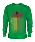 GUINEA BISSAU FADED FLAG UNISEX SWEATER TOP GUINÉ-BISSAU FOOTBALL GUINEAN