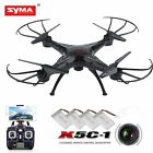 Syma X5C-1 HD FPV RC Drone Quadcopter 2.4Ghz 6-Axis Gyro with 4 Battery WX