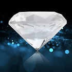 FixedPricecrystal clear paperweight faceted cut glass large diamond jewelry decor 60mm gw