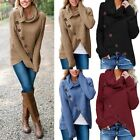 Women's Long Sleeve Knitwear Jumper Cardigan Turtle Neck Coat Jacket Sweater