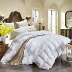 GOOSE DOWN ALTERNATIVE DOUBLE FILLED LUXURY WHITE COMFORTER KING QUEEN FULL EA image