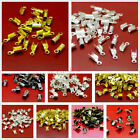 Kyпить 200/500x Gold Silver Plated Fold Over Cord Crimp End Beads Tip Jewelry Findings на еВаy.соm