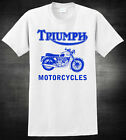TRIUMPH Motorcycle T-shirt - Logo Vintage Motorcycle - 3 Colours Tee $23.80 CAD on eBay