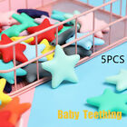 Silicone  Star  Chewable Beads Teether Necklace Baby  Teething Pacifier Pendent