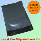 """9 x 12 230 x 300mm Grey Mailing Postage Bags Cheapest 9"""" W x 12"""" L Quick Postage"""