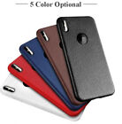 Apple iPhone X XR XS Max Cover Leather Skin Soft TPU Silicone