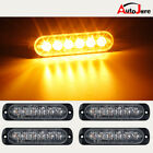 4x AMBER 6-LED Side Marker Warning Universal Beacon Light Trailer Flashing Light