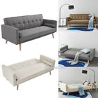 Fabric Sofa Bed 3 Seater Couch Padded Sofabed Suite Luxury Home Furniture