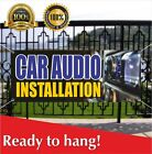 CAR AUDIO INSTALLATION Banner Vinyl /Mesh Banner Sign Stereo Speakers Auto