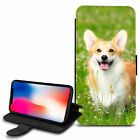 Cute Dogs Design PU Leather Wallet Case Cover For Various Mobiles - 01