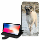 Cute Dogs Design PU Leather Wallet Case Cover For Various Mobiles - 11