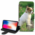 Cute Dogs Design PU Leather Wallet Case Cover For Various Mobiles - 06