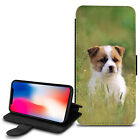 Cute Dogs Design PU Leather Wallet Case Cover For Various Mobiles - 16
