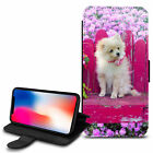 Cute Dogs Design PU Leather Wallet Case Cover For Various Mobiles - 26