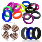 Round Cool Couple's Rings Popular Silicone Sport Multicolors Solid Jwelry Gift