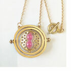 Harry Potter Necklace Time Turner Hermione Pendant Rotating Spins Hourglass UK