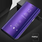 For Oneplus 6/6T Clear Mirror Smart Case Flip Leather Stand 360° Full Cover Case