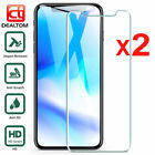 1/2x Tempered HD Glass Screen Protector For iPhone 6 6S 7 8 Plus X XS XR XS MAX