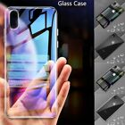 For iPhone 7 8 Plus X S Max XR Fashion Clear Tempered Glass + Soft TPU Case Skin