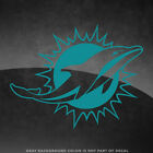 "Miami Dolphins NFL Vinyl Decal Sticker - 4"" and Larger - 30+ Color Options! $3.89 USD on eBay"