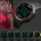 Unisex Men Women Waterproof Countdown Timer Date Sports Army Digital Wrist Watch image