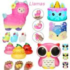 Adorable Cute Llamas Slow Rising Fruits Scented Stress Relief Toys UK