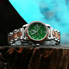 LEEEV Wooden Watch for Men Relogio Masculino Stainless Steel & Wood Chronograph image
