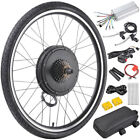 "500W/1000W 26"" Electric Bicycle Bike Conversion Kit Motor Speed Front Rear Wheel"