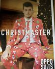 Oppo Suit Christmaster Costume Oufit Tie Pants Christmas Ugly Party Funny Fun