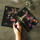Внешний вид - DIY Colorful Drawing Paper Graffiti Card Scratch Painting Magic Doodling