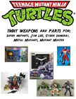 TMNT Weapons Super mutants, Jim Lee, Cyber Samurai, Metal Mutants, Mutant Master
