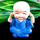 Chinese Art Little Novice Monk Hand Color Painted Sculptured Decor DD882