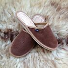 Womens Slip On Slippers Soft Suede Leather Size 3 - 8 Ladies Mule House Shoes UK