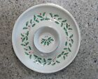 LENOX CRISTMAS HOLIDAY DIMENSION HOLLY BERRIES 2 Pc. CHIP & DIP TRAY SERVER