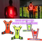 Внешний вид - Safety Reflective Vest Belt Stripe Straps LED Light Night Running Jogging Biking