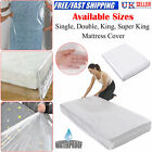 HEAVY DUTY MATTRESS BAG STORAGE COVER DUST PROTECTOR SINGLE DOUBLE SUPER KING UK