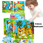 Kids Toy Animal/Traffic Puzzles 3D Jigsaws Natural Wood Wooden Cartoon Jigsaw